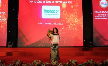 Traphaco is honored as the most prestigious pharmaceutical company in Vietnam for the second consecutive year