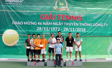 Tennis Traphaco Open Tournament 2018 to celebrates 46 years anniversary of company